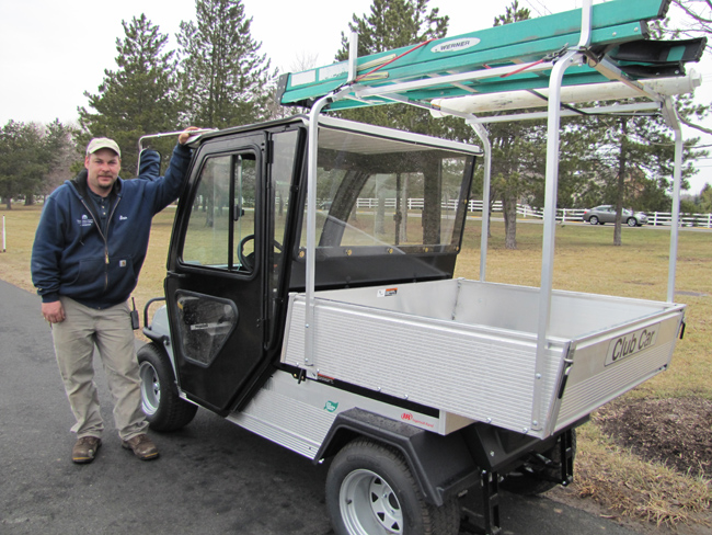 Campus Utility Carts Go Electric Think Green