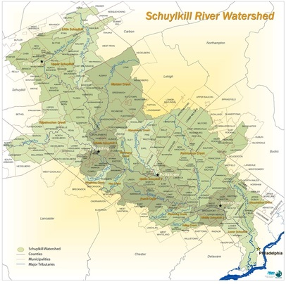 Schuylkill Watershed Map