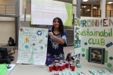 Student Environmental Club President Serena Dunlap at MCCC's Campus Sustainability Day celebration in October. Photo by Alana J. Mauger