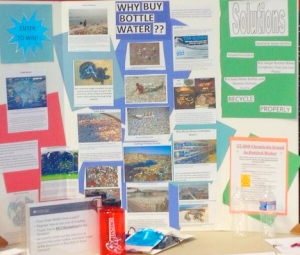 "Students' presentation board, ""Why Buy Bottled Water?"""