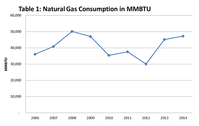 Note: 1 Mcf = 1,000 cubic feet = 1 MMBtu (based on natural gas approximate heat value of 1,000 Btu per cubic foot)